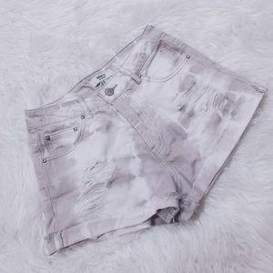 Forever 21 Acid Wash High Waisted Shorts Size 24